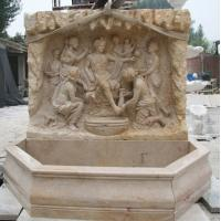 China yellow marble wall fountain on sale