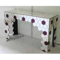 Mirrored Living Room Console Table , Purple Silver Mirrored Entry Table Manufactures