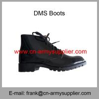 Wholesale Cheap China Army British Style Black Ankle Military DMS Combat Boot Manufactures