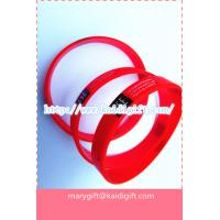 red printed silicone bracelet band with custom logo Manufactures