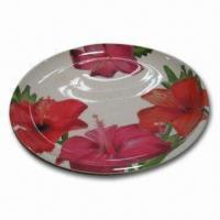 Bamboo Laminated Dish with Stylish Decal on Surface, Available in Various Sizes Manufactures