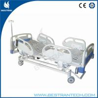Motorized ICU Electric Hospital Beds With 4 - Part Steel And ABS Handrails Manufactures