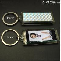 Promotional single flashing Solar Led Keychain Logo can be imprinted Manufactures