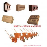 Clay Block Machine 2-40 Moulds Manual Brick Making Machinery for sale Machine Manufactures