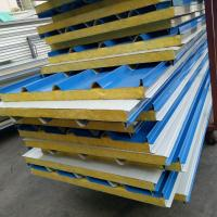 50mm A grade fire rating glass wool insulated sandwich roof panel use 20ft container house Manufactures