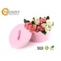 Flower Gift Box Round Colorful Luxury Flower Custom Printed Cardboard Boxes for Gift Packing Manufactures