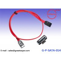 SATA 7 Pin Male / Wire Harness Cable /  Serial Drive Assembly 30V 80C 26AWG Manufactures