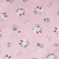 Cotton Poplin Printed Fabric, 57 to 58-inch Width Manufactures