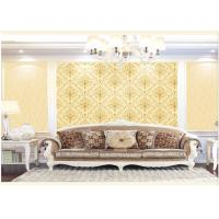 Contemporary Damask Deep Embossed Wallpaper Waterproof For Interior Room Manufactures