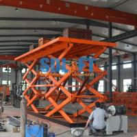 12T Double Scissor Lift Table , Stationary Hydraulic Lift Platform For Goods Manufactures