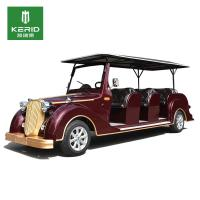 4 Wheel 72V AC Motor Left Drive Classic Golf Cars Electric MIni Vehicle With11 Persons Payload Manufactures