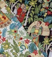 LEO&LIN 2015 style restoring Stretch twill printed poplin freda garden Patchwork of Cotton Fabric tissus Manufactures