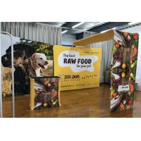 China Aluminum Tube Pop Up Exhibition Display Tension Fabric Vivid Graphic Image for sale