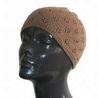 Women's Knitted Hat with Cutout Pattern, Various Colors and Sizes are Available Manufactures