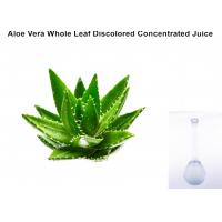 Off - White Ropy Liquid  Aloe Vera Extract Powder Whole Leaf Discolored Concentrated Juice Manufactures