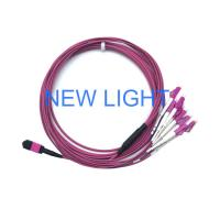 China Optical Connector MPO MTP Cable Om3 Multimode Fibre Optic Cable For Mpo Fiber Cassette on sale