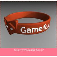 China Eco-friendly Silicone Wrist Bracelets  Flexible For Children on sale