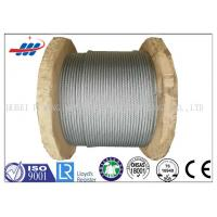 China Galv Elevator / Aircraft Wire Rope Zinc Coated With 1570-1960MPA Tensile Strength on sale