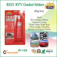 China Flexible Acetic Cure Silicone Sealant / Red Gasket Maker With Heat Resistant on sale