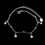 Adjustable Sterling Silver Charm Bracelet , Sterling Silver Star Bracelet Manufactures