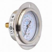 Refrigeration pressure gauges with front flange, available in 2.5 and 2.75 inches dial sizes Manufactures