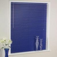 Quality Dark Blue Aluminum Blinds/Office Window Curtain with 25mm Slat, Rollover and Folding Freely for sale