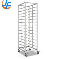 Quality High Standard Stainless Steel Knocked-down Baking Tray Rack Trolley for sale