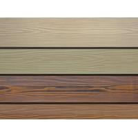 Wooden Grain Fibre Cement Cladding Boards 190/200mm Width Freezing Resistance Manufactures