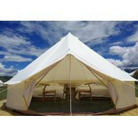 China Glamping Luxury Yurt Bell Fire Retardant Tarpaulin Safari Tent Waterproof Canvas Fabric on sale