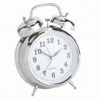 China Twin Bell Alarm Clock, Sized 5 Inches, with Classic Design on sale