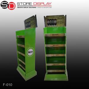 custom FMCG food&beverage 4 tiers floor display stand Manufactures