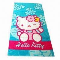 Promotional Beach Towels, Made of 100% Cotton, Customized Printings are Accepted Manufactures