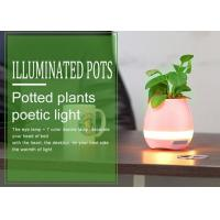 Fashionable Music Illuminated Plant Pots with Piano Sound Music , Bluetooth Glowing Flower Pots Manufactures