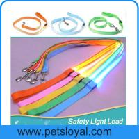 LED Lighted Dog Leash Night Safety Training Pet Lead Leashes Manufactures