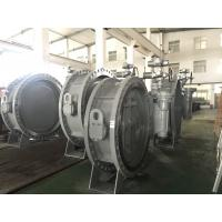 DN1200 Size Double Flanged Gear Box Operator Marine Butterfly Valve Manufactures