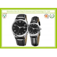 China Vogue Calendar Sweethearts Leather Band Watch Fashion Black For Sport Men on sale