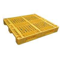 Three Runner Single Faced Edge Stackable Plastic Euro Pallet Price Manufactures