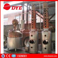 Fractional Copper Brew Kettle Rum Vodka Semi - Automatic Customized Manufactures