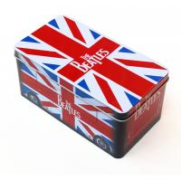 Beatles style gift Rectangular Tin Box / tin cantainers 4c offset printing Manufactures