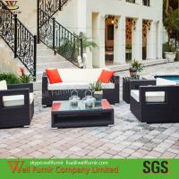 Hot Sale 4-PC Rattan Garden Furniture Sofa Set/Rattan Furniture/3-seater Rattan Sofa Manufactures