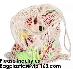 Cotton Packing Bags For Fruit & Vegetables, Organic Cotton Mesh Bags, Drawstring Cotton Net Bags, bagease, bagplastics Manufactures