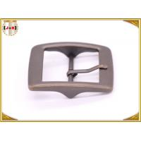 Plain Design Brass Plated Metal Belt Buckle , Central Bar Buckle with Pin Manufactures