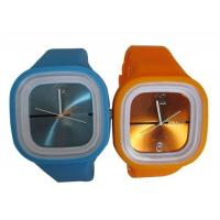 Square Face  Digital Quartz  Waterproof Rubber Silicone Wristband Watch Jelly Watch Manufactures