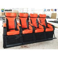 4 Seat Per Set 4D Movie Theater Cinema Equipment Customize Color Motion Chairs Manufactures