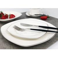 China Luxury New Bone Elegant Dinnerware Sets Custom Rectangular Dinnerware Sets on sale
