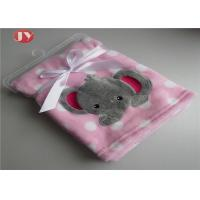 China 100% Polyester Embroidery Warm Baby Blanket Super Soft Coral Fleece Baby Blanket on sale