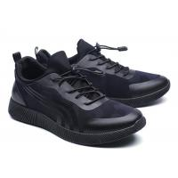 Cool Looking All Black Running Shoes Mens , Supportive Gym Shoes EU 39-46 Size Manufactures