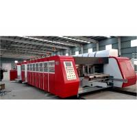 Electric Drive Corrugated Flexo Printing Machine Steel Material Vacuum Suction Transmission