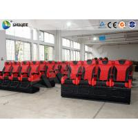 Large 4D Movie Theater Long Movie Pneumatic System Chair With Cup Holder Manufactures