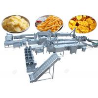 Commercial Potato Chips Manufacturing Machine Frozen French Fries With Flow